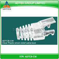 RJ45 Clear Plastic strain relief cable boot