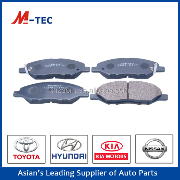 Toyota brake pad back plate 41060-EE30J usd for Tida high efficiency