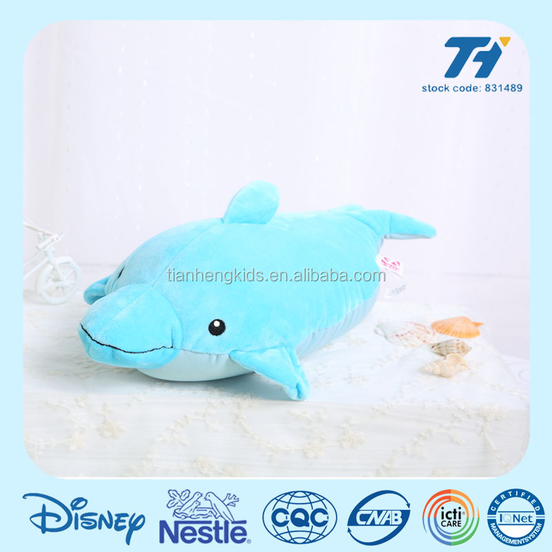 Chirstmas Sea Animal Shape cute Microbeads Filling Transformative Travel Pillow plush stuffed dolphin toy