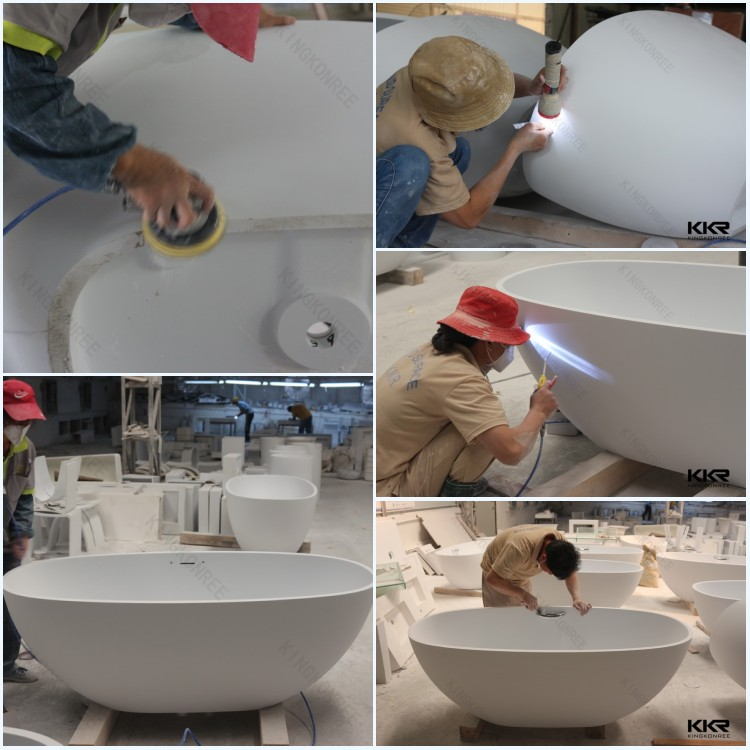 Engineered stone portable bathtub dog bathtubs