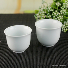 solid color pure white japanese sake cups 55ml 75ml 2pcs mini hotel low price his and her wine ceramic porcelain cup