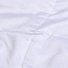 Light Weight Filled Queen Natural Comfort White Down Alternative Comforter with Embossed Microfiber Cover