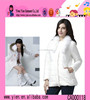 Ladies White Korean Stylish Fashion Coats Made In China Cheaper Sex Charming Ladies White Coat
