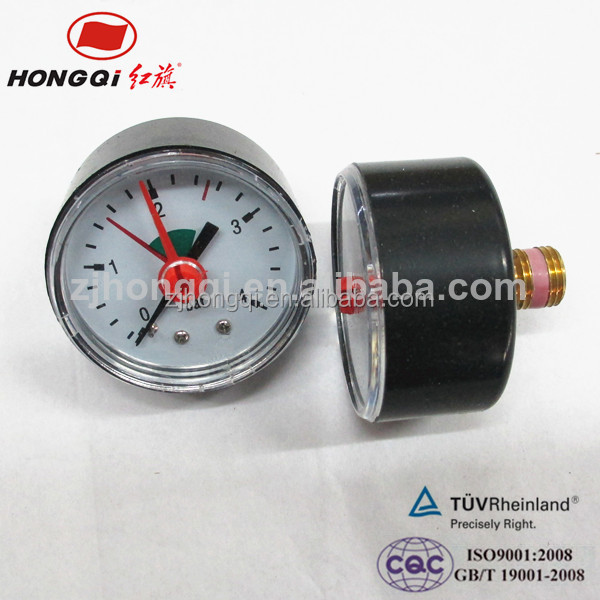 Black case bourdon tube digital water pressure gauge for sale