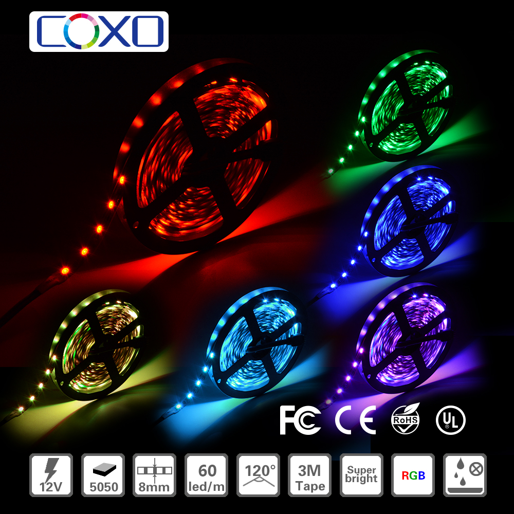 12V 30Led/M 150LEDs 5050 2812 2813 LED strip Individually addressable RGB color Waterproof IP65