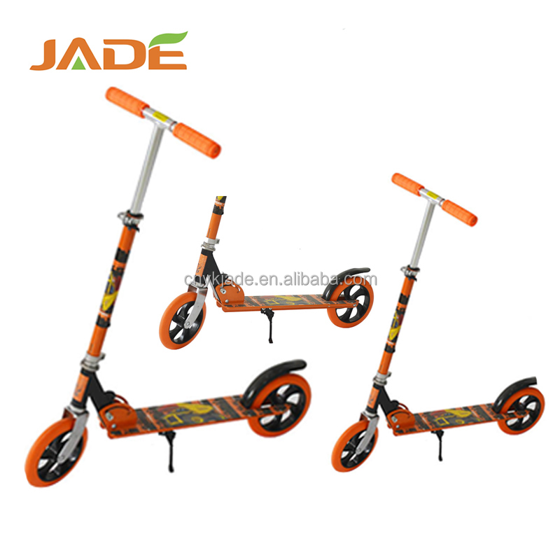 Good quality big wheels skate kick scooter foot pedal adult scooter for wholesale