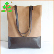 modern large vegan leather laptop tote bag
