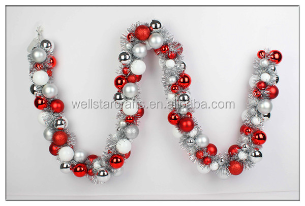 Chinese factory produce fashionable wholesale christmas wreath for decoration, decoration bauble garland