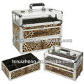 Sixy Leopard Pattern Beauty Nail Polish Storage Case from Transparent Acrylic & PVC w/ Compartment & Drawer, RZ-AJC064