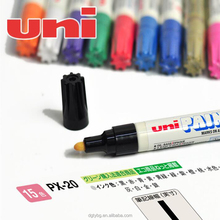 Uni paint PX-21 Black Oil Paint Marker Pen Metal Glass Wood Plastic Stone Outdoor Bullet Nib Tip