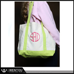 New arrival canvas beach Monogrammed Canvas Tote bags