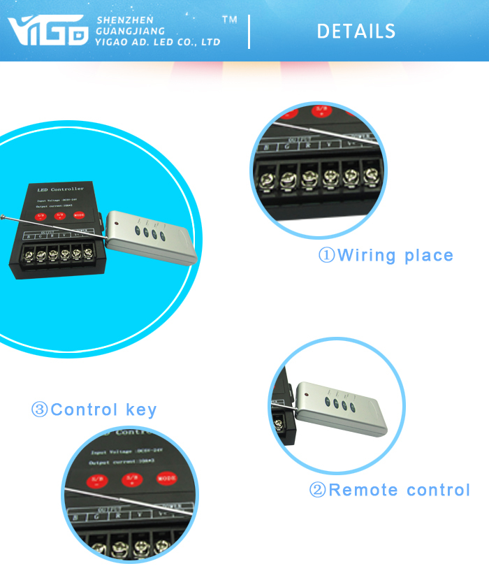 new product DC5-24v wireless rgb led controller/ led display controller