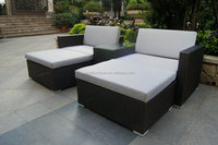 Large capacity loading outdoor furniture rattan wicker sofa / garden furniture sofa set furniture