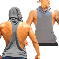 2017 Men Clothing Sleeveless Gym Hoodies