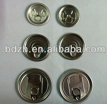 High quality food grade aluminum container easy open cap