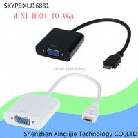 1080P mini hdmi male to vga female cable adapter connector for Laptops digital cameras Phone