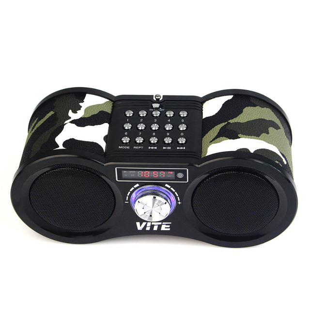 Camouflage Stereo FM Radio USB / TF Card with Speaker MP3 Music Player with Remote Control Radio FM F9203