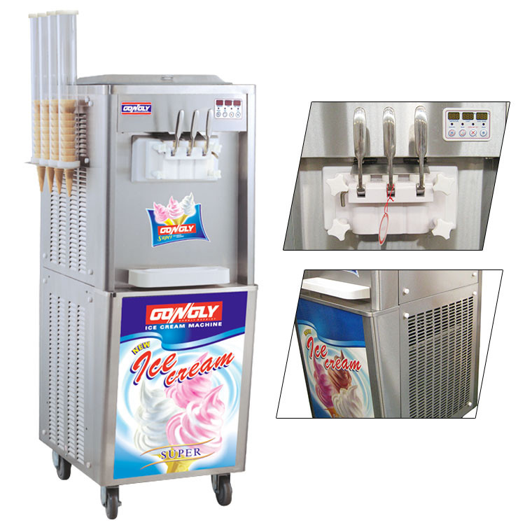 Lower cost Ice Cream equipment supplier 3 phase electronic control ice cream machine for business