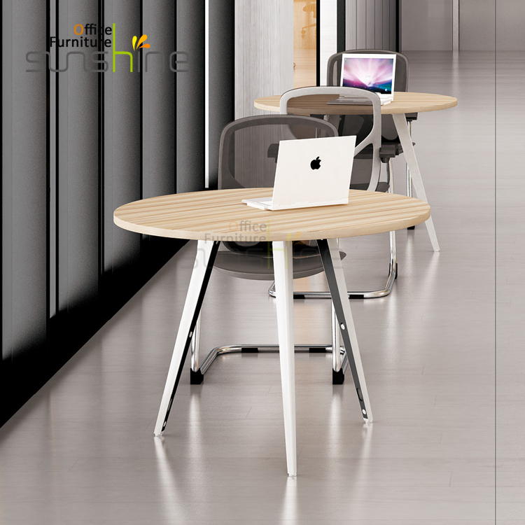 high quality fashion modern glass top office table design standard office negotiation table