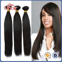 discount price .full cuticle attached natural black slk straight raw cambodian hair weave in stock