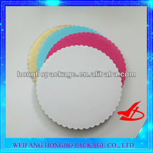 Scalloped edge corrugated white cake circle/cake base/cake pad