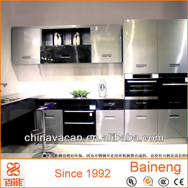 Modern free standing stainless steel commercial kitchen cabinet