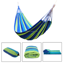 Large Double Cotton Hammock Air Chair Hanging Swinging Camping Outdoor W/ Bag