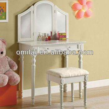 mirror furniture dressing table with stool