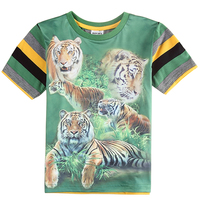 (C5959Y) 2-6Y nova Popular! Fashion 3D Print tiger kids Short Sleeves Tshirt