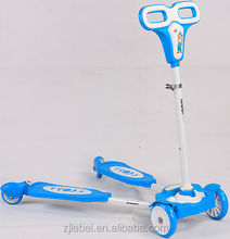Superior quality Lebei kids playing toy with varity of colors children 3 wheels scooters