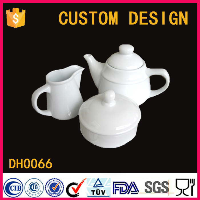 China factory wholesale custom ceramic porcelain Teapot Milk Jug Sugar Bowl Tea Set