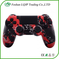 Red Splatter Shell for PS4 Controller Replacement Hydro Dipped Housing Red Splatter Shell Case Mod Kit + Buttons