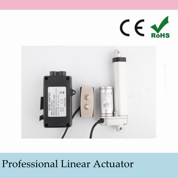 linear actuator Input voltage:12VDC/24VDC/36VDC Duty cycle:10%,stop for 18 minutes after continuously working