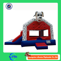 inflatable bouncer, Inflatable animal themed bouncers, dog inflatables combo bouncer