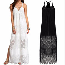 F30203A 2017 european fashion woman hot sale sexy v-neck lace slip plus beach dress for fat ladies