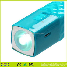 new design promotional led torch light portable power bank 2600mah for cell phone