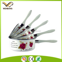 flower printing 5pcs nonstick cookware saucepan set