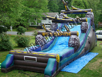 Exciting inflatable water slides/ PVC inflatable slide