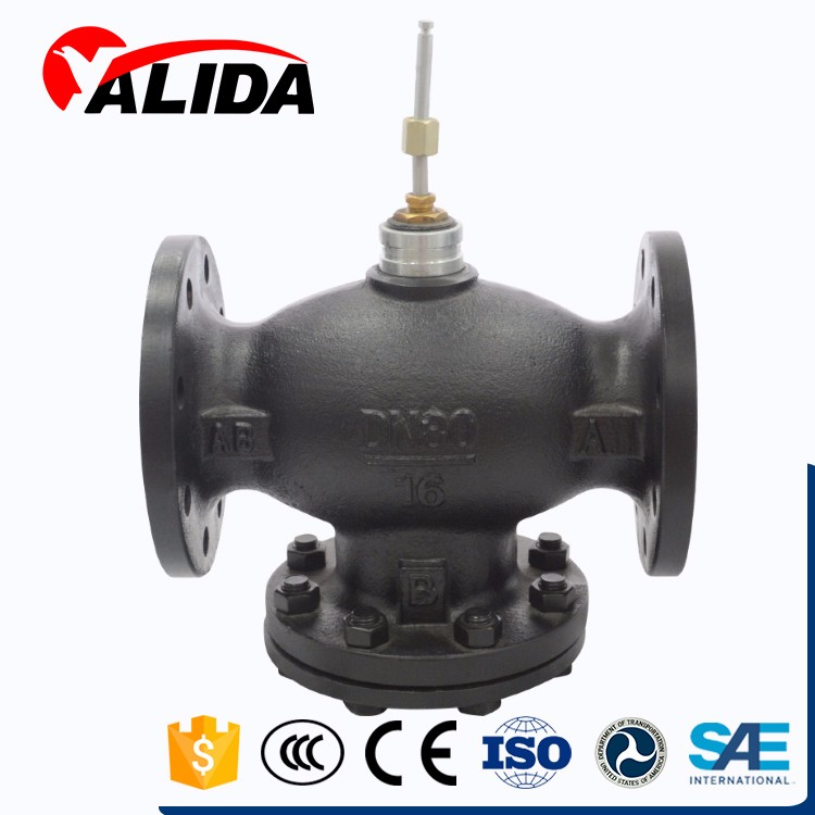 Manufacture electric two-way cast iron control valve