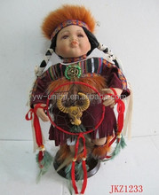 Factoy Unique Indian style hand made porcelain dolls with high quality