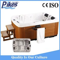 Spa tub type CE approve USA acrylic material 2 person outdoor spa bathtub