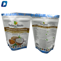 Double Ziplock Stand Up Coconut Sugar Packaging Pouch