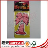China promote printing car hanging paper fish/tree shape air freshener