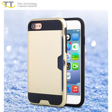 Credit card slot case cover for iphone 5 6 6plus 7 7plus 8,for iphone 7 case free sample hybrid