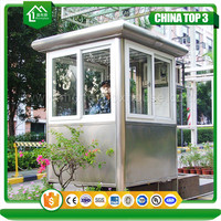 202 stainless steel sentry box/modular guard house/outdoor guard security cabin