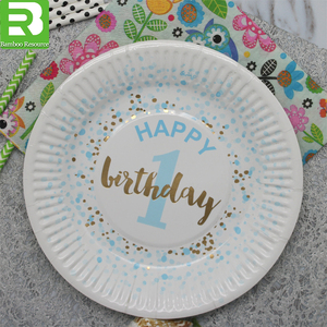 Custom printed paper cup disposable party paper plates