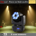 Guang zhou 6x 4in1 rgbw 15w led beam wash lighting zoom effect moving head for dancing floor