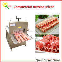 Commercial stainless steel full automatic frozen mutton roll cutting machine /bacon slicer