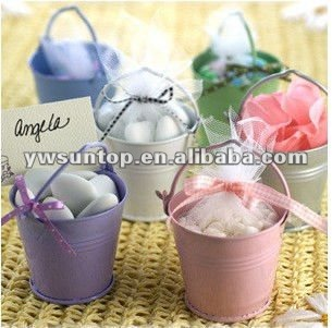 Magic multicolour bucket candy tin box wedding gift candy box