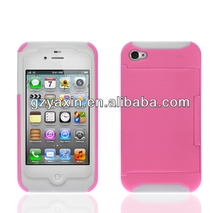 Mobile phone accessories wholesale,Credit Card Slot Case for iPhone 4 4GS